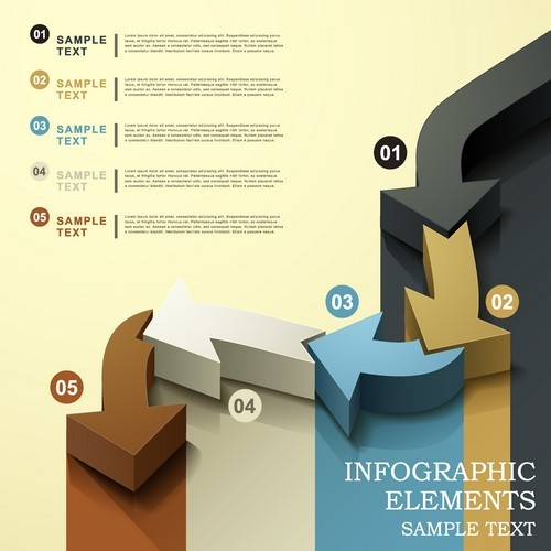 Information graph elements sampletext vector