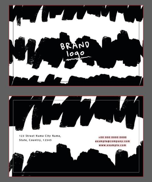 Ink background abstract business card vector