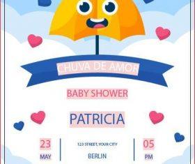 Invitation card baby shower vector