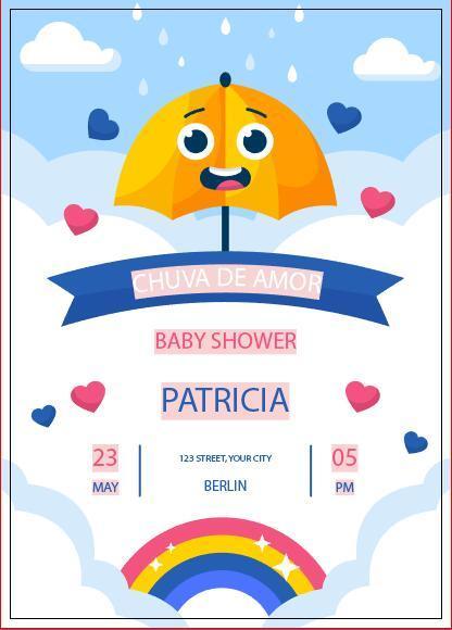 Invitation card baby shower vector