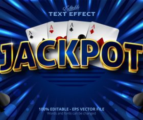 Jackpot 3d effect text design vector