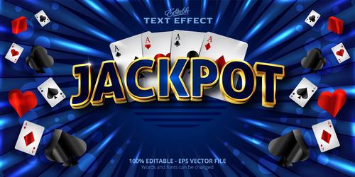 Jackpot 3d effect text design vector