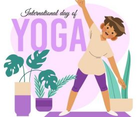 Kids Yoga Cartoon Illustration Vector