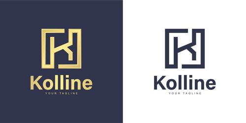 Kolline business logo design vector