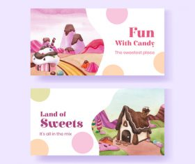 Land of sweets vector