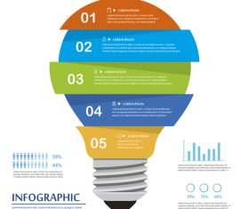 Layers of distribution concept infographic vector