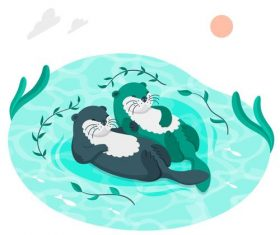 Leisure time illustration vector