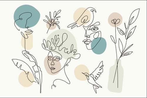 Line art doodles vector