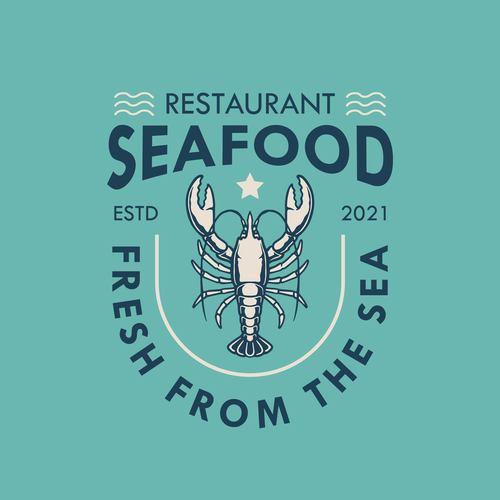 Lobster logo design vector