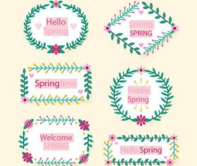 Loving spring collection vector