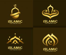 Luxurious Islamic logo vector