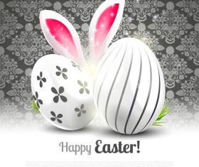 Luxurious easter vector greeting card