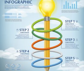 Magnetic effect concept infographic vector