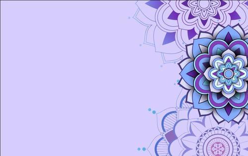 Mandala background pattern decorative card vector