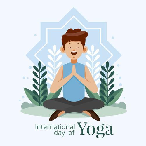 Meditation meditation cartoon illustration vector