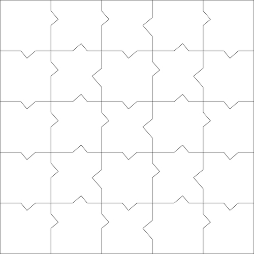 Medium square puzzle vector