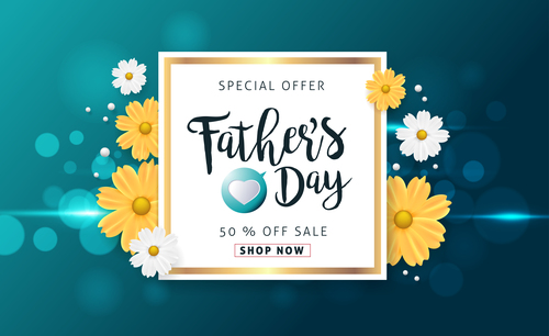 Merchant promotion fathers day vector