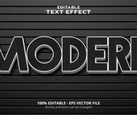 Modern editable text effect vector
