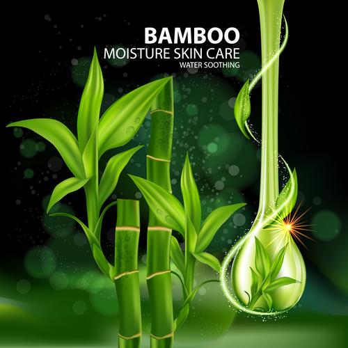 Moisture skin care water vector