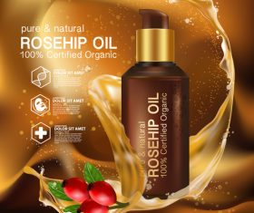 Moisturizing plant essence cosmetics vector