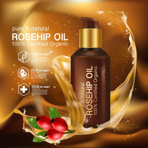 Moisturizing plant essence cosmetics vector