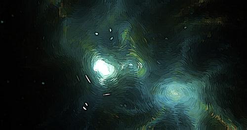Monotonous colors Post Impressionist backgrounds vector