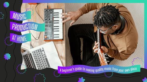 Music creation vector
