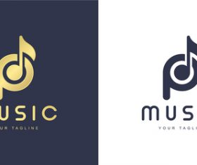 Music logo design vector