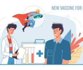 New vaccine for covid-19 cartoon illustration vector