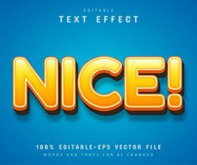 Nice text effect editable vector