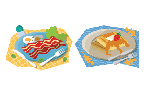 Nutrition breakfast food illustration vector