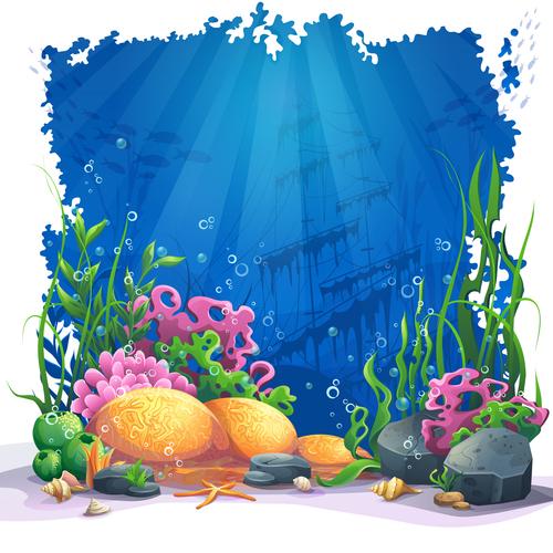 Ocean cartoon vector
