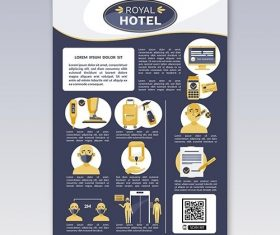 Organic flat coronavirus prevention poster for hotels vector