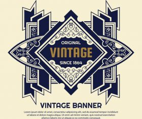 Original vintage banner label vector