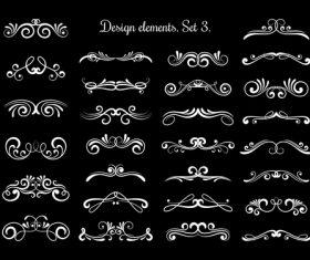 Ornate calligraphy vector swirls