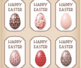 Painting Easter eggs label vector