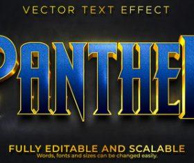 Panther 3d effect text design vector