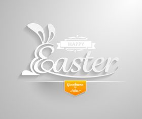 Paper cut easter background vector
