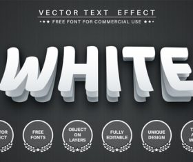 Paper cut editable text style effect vector