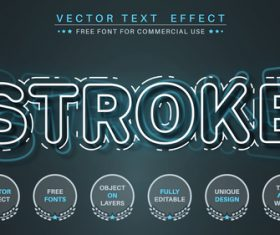 Paper editable text style effect vector