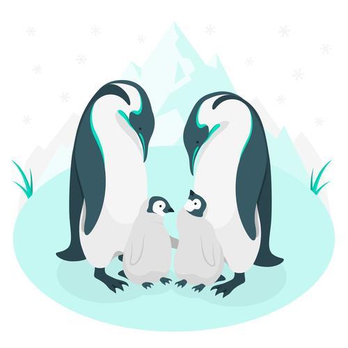Penguin hand drawn illustration vector