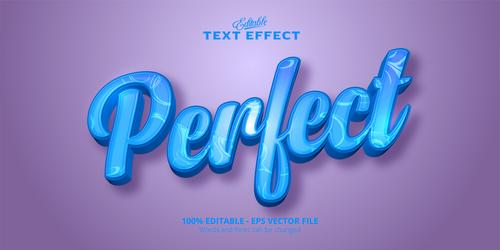 Perfect 3d effect text design vector