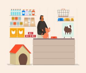 Pet shop concept illustration vector