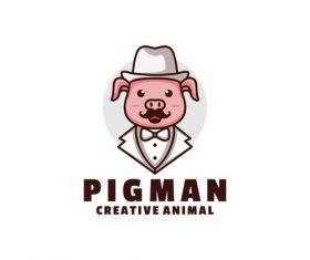 Pigman icon design vector