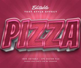 Pizza editable font vector