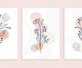 Plant art flower line vector