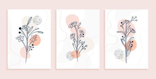 Plant art flower line vector