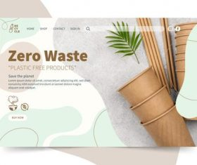 Plastic free products vector