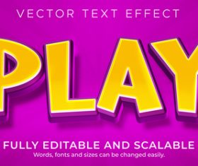 Play font editable font vector