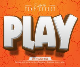 Play text effect editable vector